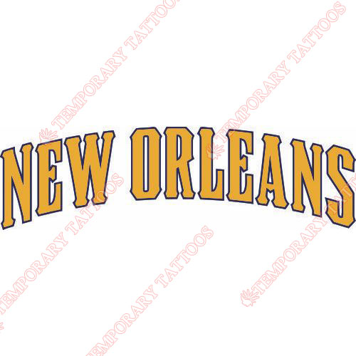 New Orleans Hornets Customize Temporary Tattoos Stickers NO.1107