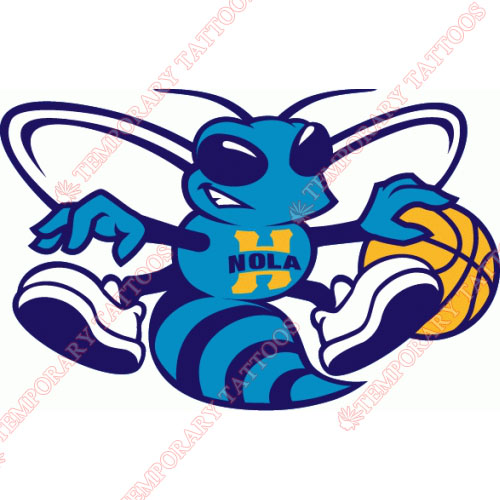 New Orleans Hornets Customize Temporary Tattoos Stickers NO.1109