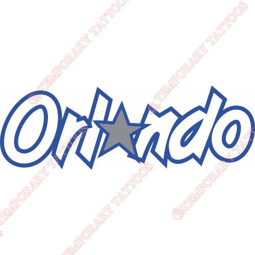 Orlando Magic Customize Temporary Tattoos Stickers NO.1140