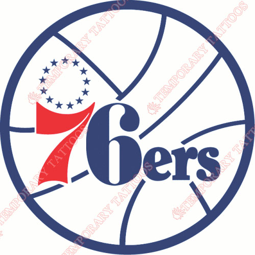 Philadelphia 76ers Customize Temporary Tattoos Stickers NO.1155