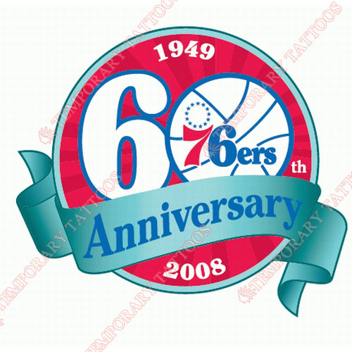 Philadelphia 76ers Customize Temporary Tattoos Stickers NO.1156