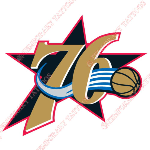 Philadelphia 76ers Customize Temporary Tattoos Stickers NO.1157