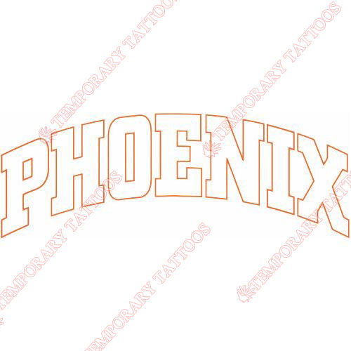 Phoenix Suns Customize Temporary Tattoos Stickers NO.1159