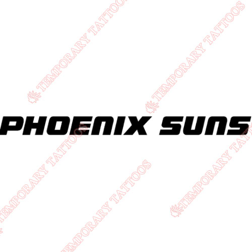 Phoenix Suns Customize Temporary Tattoos Stickers NO.1163