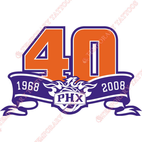 Phoenix Suns Customize Temporary Tattoos Stickers NO.1164