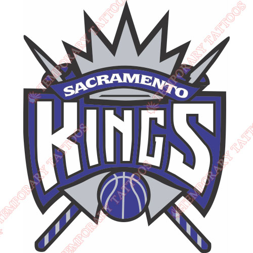 Sacramento Kings Customize Temporary Tattoos Stickers NO.1177