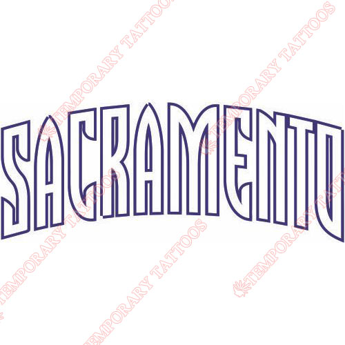 Sacramento Kings Customize Temporary Tattoos Stickers NO.1178