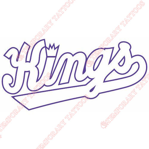Sacramento Kings Customize Temporary Tattoos Stickers NO.1179
