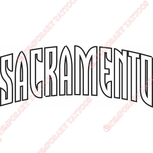 Sacramento Kings Customize Temporary Tattoos Stickers NO.1180
