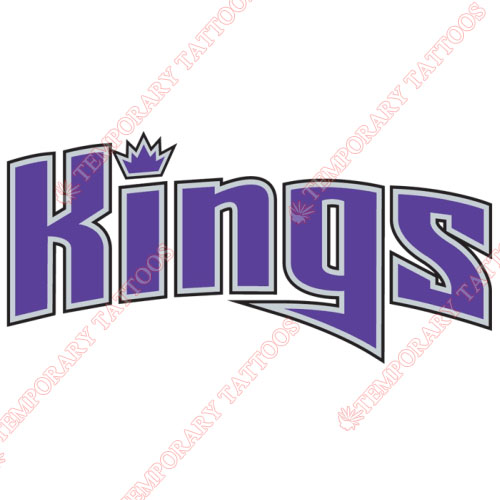 Sacramento Kings Customize Temporary Tattoos Stickers NO.1181