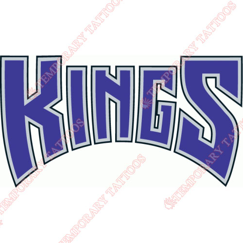 Sacramento Kings Customize Temporary Tattoos Stickers NO.1182