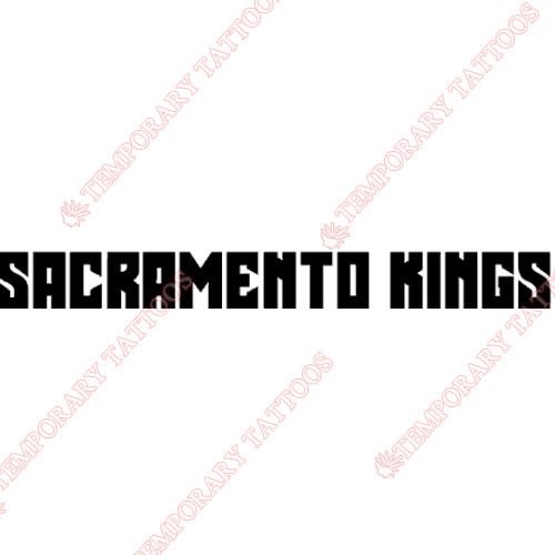 Sacramento Kings Customize Temporary Tattoos Stickers NO.1183