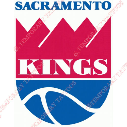 Sacramento Kings Customize Temporary Tattoos Stickers NO.1184