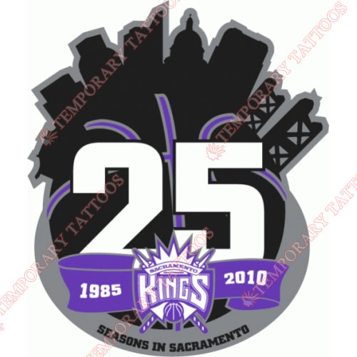 Sacramento Kings Customize Temporary Tattoos Stickers NO.1185