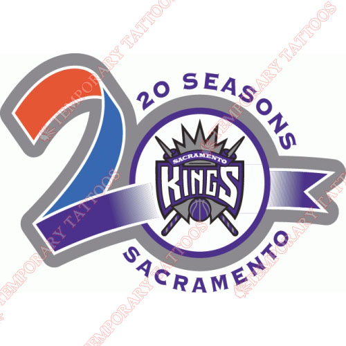 Sacramento Kings Customize Temporary Tattoos Stickers NO.1186