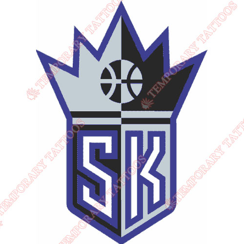 Sacramento Kings Customize Temporary Tattoos Stickers NO.1188