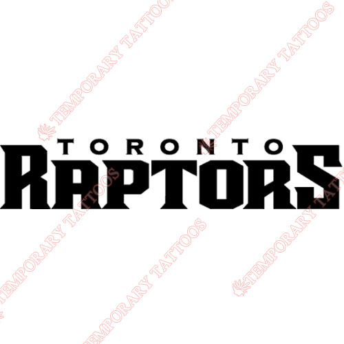 Toronto Raptors Customize Temporary Tattoos Stickers NO.1200