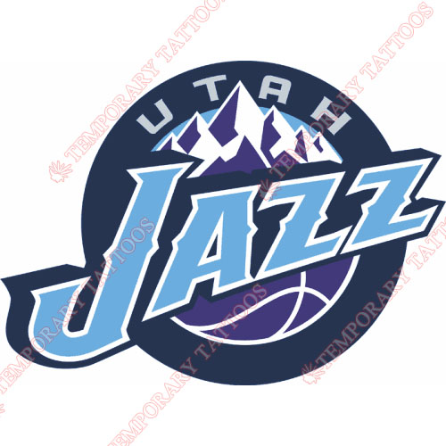 Utah Jazz Customize Temporary Tattoos Stickers NO.1217