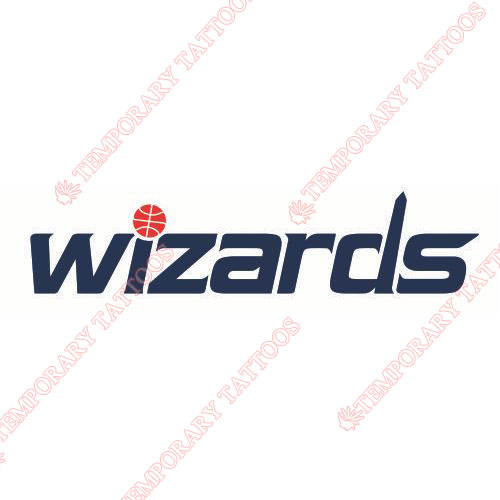 Washington Wizards Customize Temporary Tattoos Stickers NO.1229