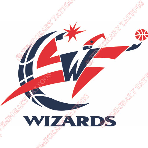 Washington Wizards Customize Temporary Tattoos Stickers NO.1230
