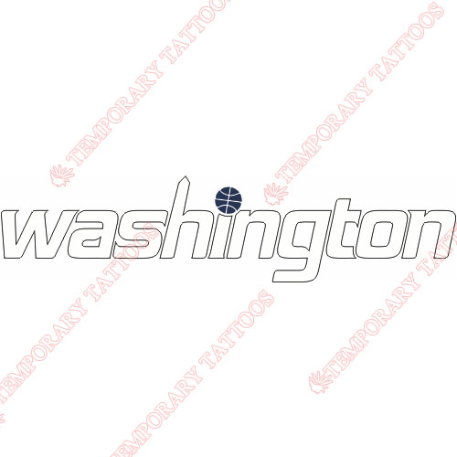 Washington Wizards Customize Temporary Tattoos Stickers NO.1233
