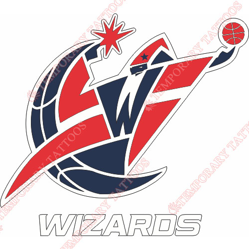 Washington Wizards Customize Temporary Tattoos Stickers NO.1238
