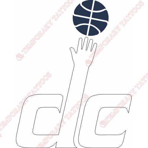Washington Wizards Customize Temporary Tattoos Stickers NO.1239
