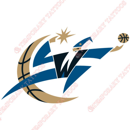 Washington Wizards Customize Temporary Tattoos Stickers NO.1245