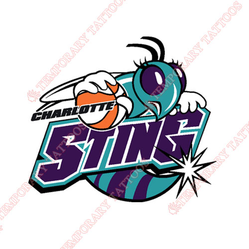 Charlotte Sting Customize Temporary Tattoos Stickers NO.8541