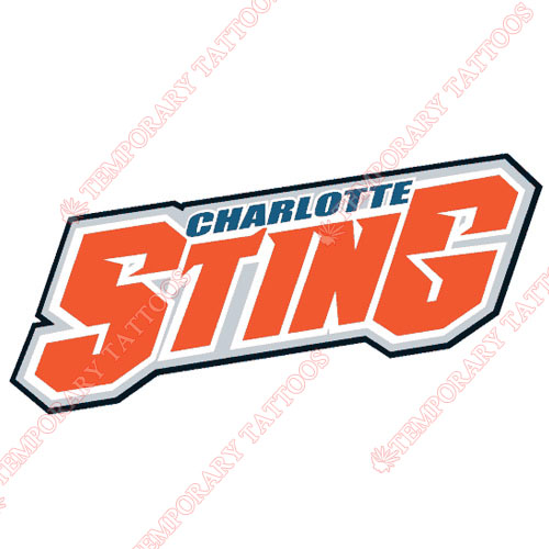 Charlotte Sting Customize Temporary Tattoos Stickers NO.8544