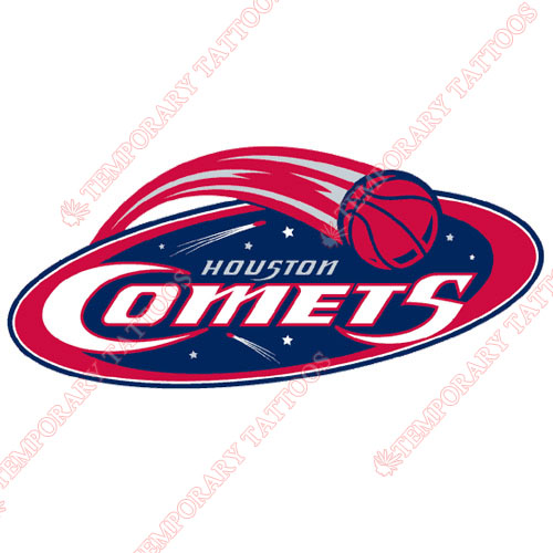 Houston Comets Customize Temporary Tattoos Stickers NO.8557