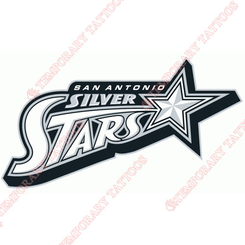 San Antonio Silver Stars Customize Temporary Tattoos Stickers NO.8579