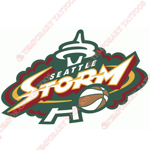 Seattle Storm Customize Temporary Tattoos Stickers NO.8580
