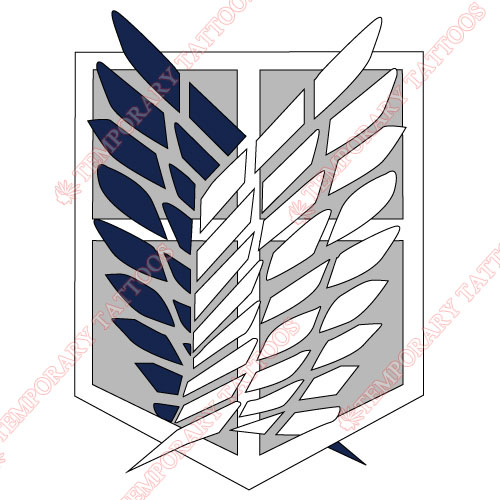 Attack on titan Customize Temporary Tattoos Stickers NO.499