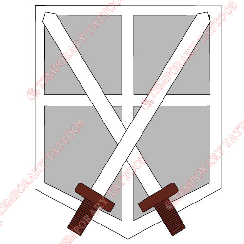 Attack on titan Customize Temporary Tattoos Stickers NO.502