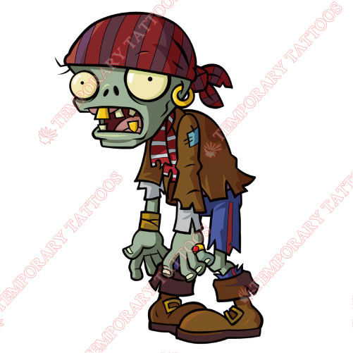 Plants vs Zombies Customize Temporary Tattoos Stickers NO.981