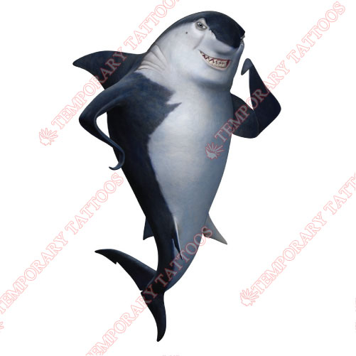 Shark Tale Customize Temporary Tattoos Stickers NO.3409