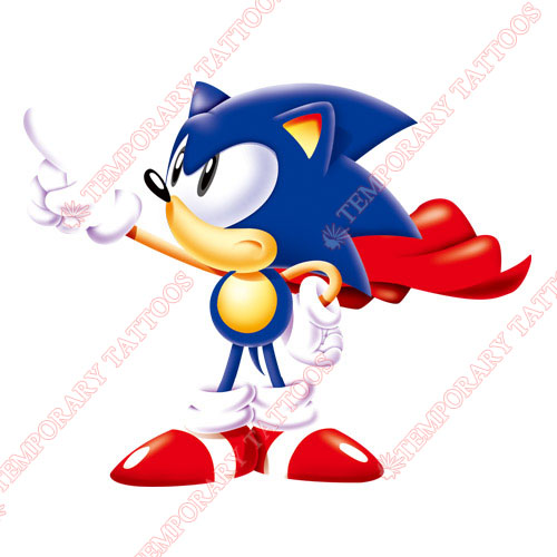Sonic the Hedgehog Customize Temporary Tattoos Stickers NO.5324