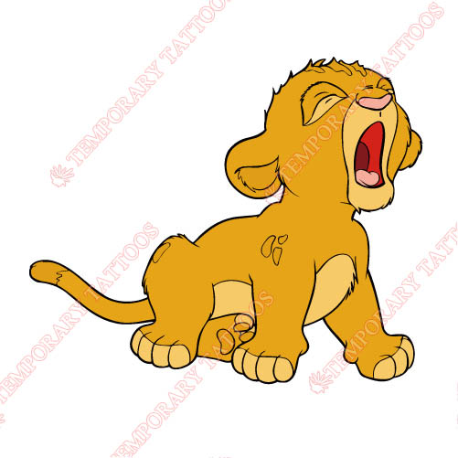 The Lion King Customize Temporary Tattoos Stickers NO.960