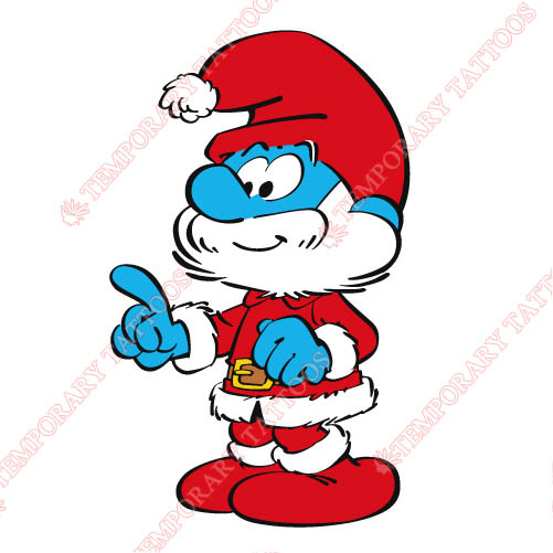 The Smurfs Customize Temporary Tattoos Stickers NO.3471