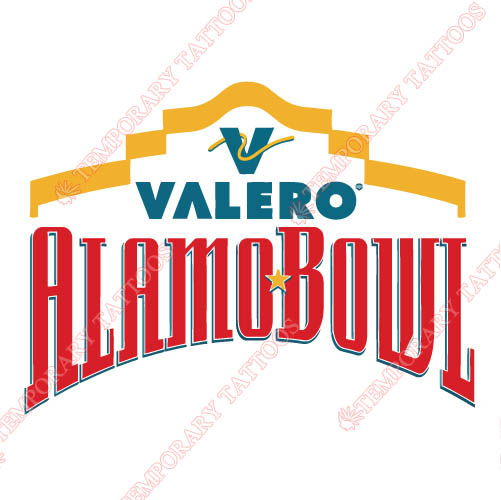 Alamo Bowl Primary Logos 2007 Pres Customize Temporary Tattoos Stickers N3243