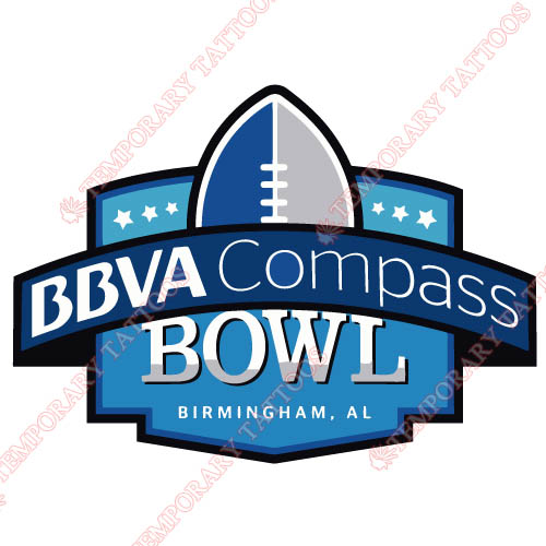 BBVA Compass Bowl Primary Logos 2011 Pres Customize Temporary Tattoos Stickers N3244