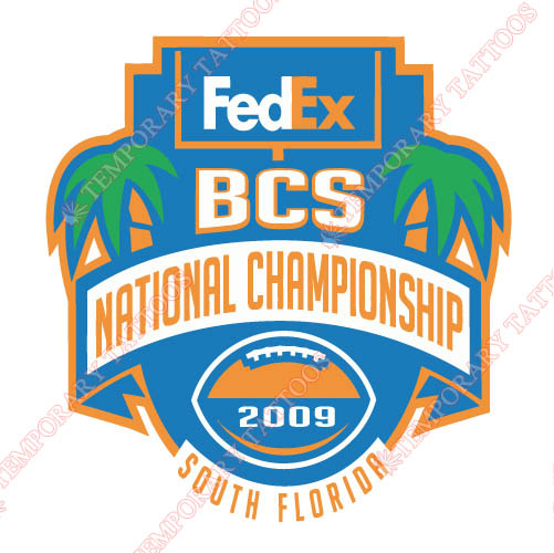 BCS Championship Game Primary Logos 2009 Customize Temporary Tattoos Stickers N3246