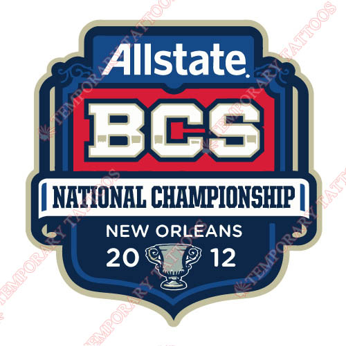 BCS Championship Game Primary Logos 2012 Customize Temporary Tattoos Stickers N3249