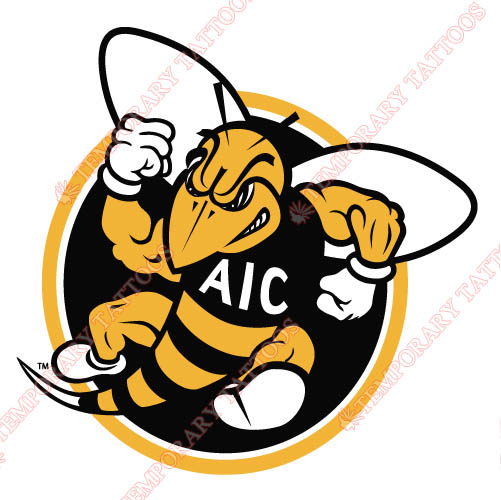 AIC Yellow Jackets 2009-Pres Alternate Logo5 Customize Temporary Tattoos Stickers N3690