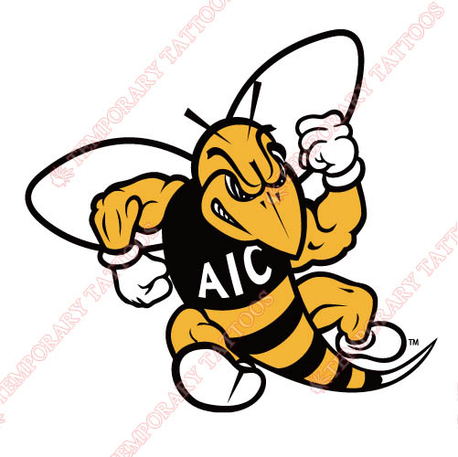 AIC Yellow Jackets 2009-Pres Primary Customize Temporary Tattoos Stickers NO.3692