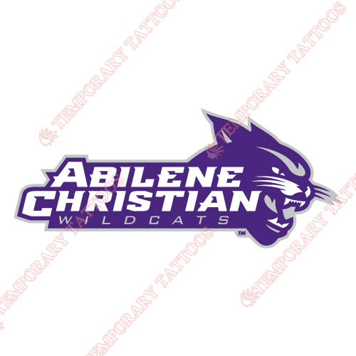 Abilene Christian Wildcats 2013-Pres Alternate Customize Temporary Tattoos Stickers NO.3679