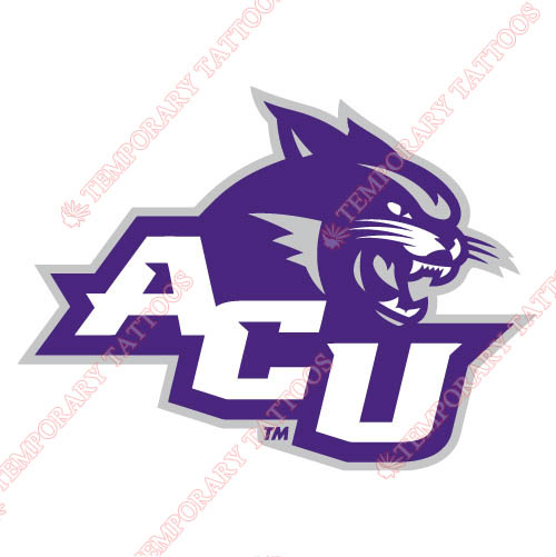 Abilene Christian Wildcats 2013-Pres Primary Customize Temporary Tattoos Stickers NO.3681