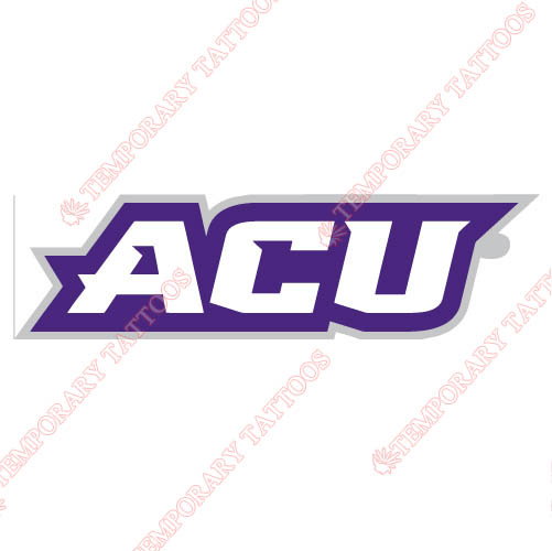 Abilene Christian Wildcats 2013-Pres Wordmark Customize Temporary Tattoos Stickers NO.3682
