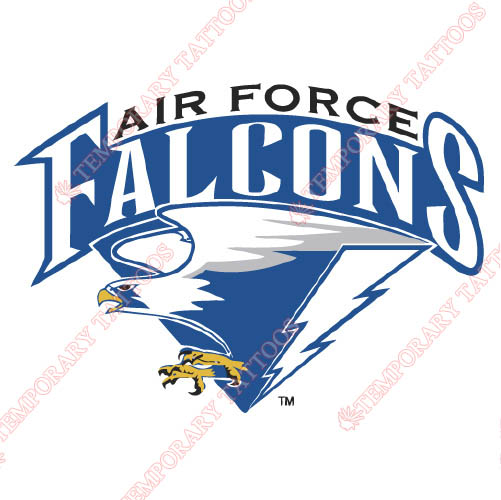 2004-Pres Air Force Falcons Alternate Customize Temporary Tattoos Stickers NO.3696